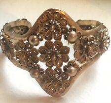 Bracelet Manchette Ancien 1900 Filigrané Vintage Antique Cuff Bracelet