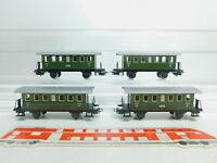 BM68-0,5# 4x Märklin H0/AC 4040 Blech-Personenwagen 2. Klasse 4051 Stg/Ci