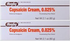 Rugby Capsaicin Cream  Pain Relief 0.025% 60gm ( 2 pack )