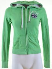ABERCROMBIE & FITCH Womens Hoodie Sweater Size 6 XS Green Cotton  IY09