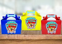 Personalised PAW Patrol Birthday Party, Favour, Treat Gift Box x1