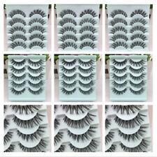 25 Pairs New Natural Eye Lashes Makeup Cross Handmade Thick Fake False Eyelashes