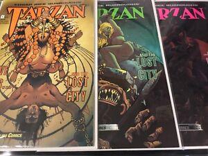 Tarzan Complete Malibu comics 3 part issue, Love, Lies and the Lost City #1,2,3