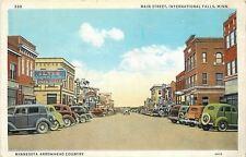 International Falls MN~Iltis Walgreens on Main Street~1940s Postcard