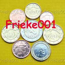 Estland - Estonie - 1 cent tot 2 euro 2018 unc.