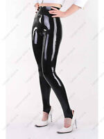 Latex Catsuit Gummi Rubber Female High Rise Trouser Pants Cool Customized 0.4mm