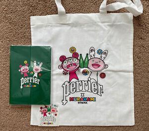 Takashi Murakami X Perrier tote bag and notebook