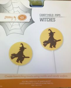 Chocolate Halloween Witch Lollipop Mould 4 Shapes on 1 Mould 6cm Dia.