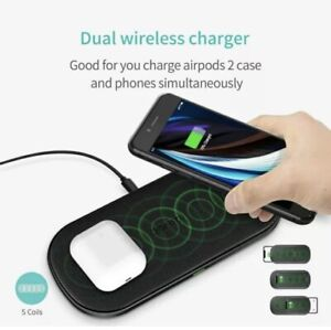 CHOETECH Dual Fast Charger Qi Wireless Charging Pad For Samsung Galaxy S20 S20+