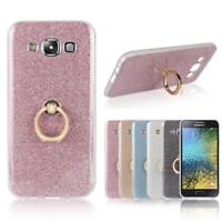 Slim Bling Glitter TPU Ring Stand Case Cover For Samsung Galaxy Note 3 4 5 S7 S6