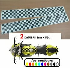 Stickers réservoir moto damier autocollant  - 2 pièces - café racer - bobbers