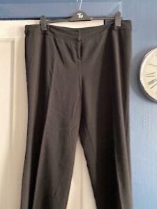 Ladies Evans Black Trousers Size 20 L28