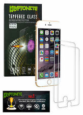 2x Pack iPhone 6/6s Plus KRYPTONITE Protectores de Pantalla de Vidrio Templado