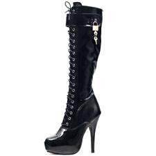 Platform Boots Women 15cm High Heels Heel Knee-High Patent Leather Sexy Shoes