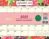 2021 Rosako Calligraphy Magnetic Refrigerator Wall Calendar Pad