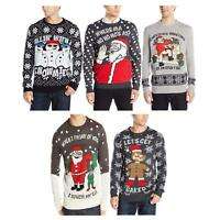 Mens Christmas Jumpers Ginger Bread Xmas Novelty Rude Santa Elf Snowman Sweater