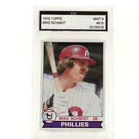 Graded 1979 Topps Mike Schmidt Phillies Mint 9