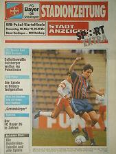 Programm Pokal 1990/91 Bayer 05 Uerdingen - MSV Duisburg