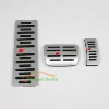 No Drilling Car Foot Rest Fuel Brake AT Pedals For Audi A4 A4L A6 A8 Q5 Sline