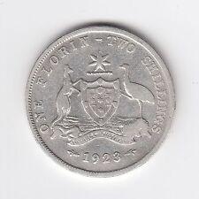 1923 Australian Silver TWO Shilling Florin (TWO BOB) KING GEORGE V (very Nice)