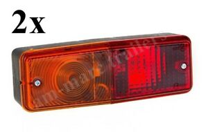 2 x UNIVERSAL TRACTOR TRAILER REAR COMBINATION STOP / TAIL INDICATOR LAMP LIGHT