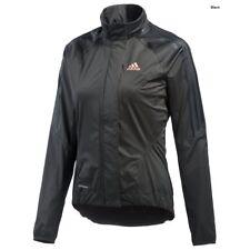 adidas Women's Tour Rain Jacket - Large Black Cycling Waterproof Jackets Size 12