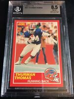 1989 Score #211 Thurman Thomas Rookie Buffalo Bills BGS 8.5 Rare Rookie Card