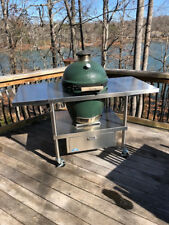 Stainless Steel Big Green Egg table
