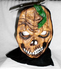 Adult Grisley Ghoul Halloween Mask NWT MultiColor Rubber Black Fabric Back NecK