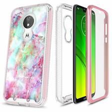 For Motorola Moto g7 Power/g7 Optimo Maxx Case Cover + Built-In Screen Protector