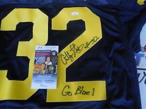 Anthony Thomas signed Michigan UM Wolverines sewn on jersey w/ Go Blue JSA COA