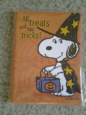 "SNOOPY as WIZARD ""ALL TRICKS NO TREATS"" pack of 10 HALLOWEEN PARTY INVITATIONS"