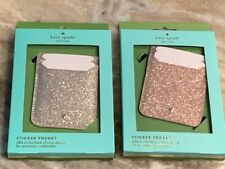 NWT Kate Spade Triple Sticker Pocket - Rose Gold Shimmer or Soft Gold Shimmer