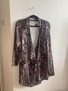 River Island Plus - Size 28 - Snakeskin - Wrap Style Long Top/dress