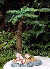 Miniature Dollhouse FAIRY GARDEN ~ Sea BEACH Luau Palm Tree with Life Preserver