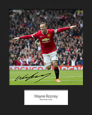 WAYNE ROONEY #1 10x8 SIGNED Mounted Photo Print - FREE DELIVERY