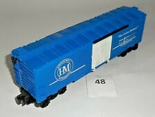 1970's LIONEL MPC ERA 6464-009 HERALD MAIL NEWSPAPERS BLUE BOX CAR EXCELLENT 48