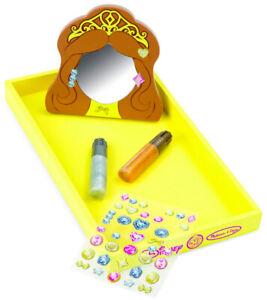 Melissa & Doug Disney Princess BELLE Decorate-Your-Own Wooden Pocket Mirror Kit