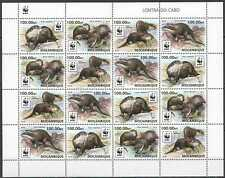 NW0576 SALE MOZAMBIQUE WWF OTTERS WILD ANIMALS #8884-8887 FULL SH(4SET) MNH