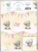 ME TO YOU TINY TATTY TEDDY BEAR GIRL FEMALE GIFT WRAP 2 SHEETS & 2 TAGS NEW GIFT