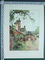 C1930 Francese Stampa L'Illustrazione ~ Collonges Castle Maussac