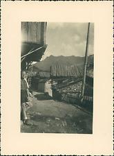 France, Saint-Véran, à l'intérieur du Village  Vintage silver print Tir