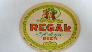 ORIGINAL REGAL BEER COASTER - NEW ORLEANS, LA - NICE