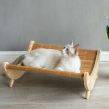 Puppy Pet Dog Cat Summer Comfort Cooling Wooden Bamboo Hammock Bed Rocking Chair