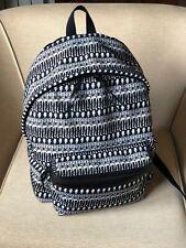 Yves Saint Laurent 435988 Black White Canvas Leather Backpack