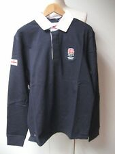 New Eden Park Long sleeve Official England Rugby shirt in Marine size M,