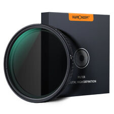 K&F Concept 62mm ND Filter ND8 to ND128 Fader Variable Neutral Density NO X Spot