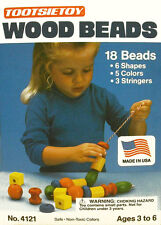 TOOTSIETOY - 18 PC WOODEN BEADS   - FREE SHIPPING               #ZTT-4121