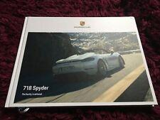 Porsche 718 Spyder Brochure 2020 - UK Issue