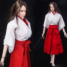"""Red&White Witch Kimono Skirt For 1/6 Scale Female 12"""" Action Figure 1:6 Toy"""